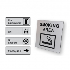 Made to Order Engraved Brushed Aluminium Architectual Signs