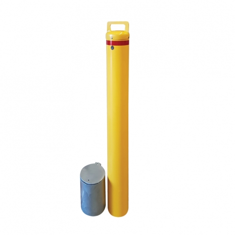 Security Bollard - Key Operated 140mm In-Ground Removable